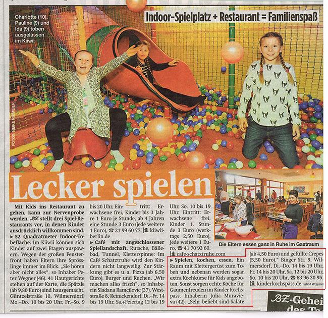 Berliner Zeitung Kinder KOCHSPASS