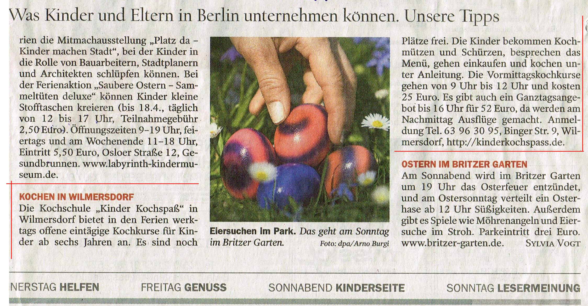 Tagesspiegel Kinder KOCHSPASS